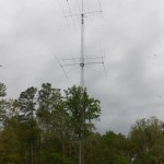 A photo of N1LN and N1YXU\'s 40m tower.