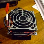 Top view of the Fan/heat sink