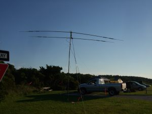 Tri band yagi at 18 feet.