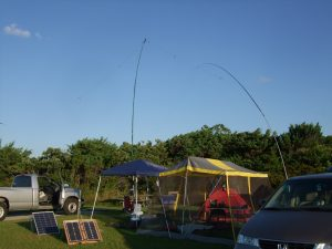 Photo of most of the 2015 W4O IOTA station from Okracoke Island.