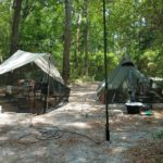 FD 2019 de W4KAZ, Camp from rear, Friday after masts setup