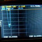 Bandpass filter scan for 160M filter - BAD news